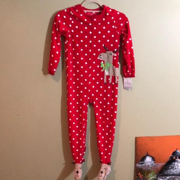 Carter's Navy Blue Dinosaur Blanket Sleeper Footed Pajamas 3T 4T ~ NWT